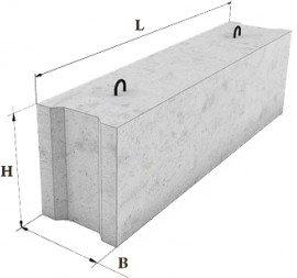 Фундаментные блоки сплошные 24-5-3 Т